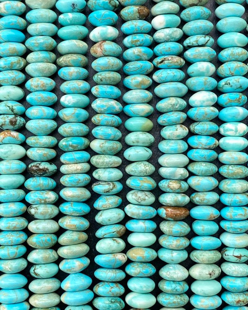 4x8mm Turquoise Magnesite Rondelles