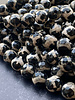 12mm Faceted Round Black Ying Yang Agate