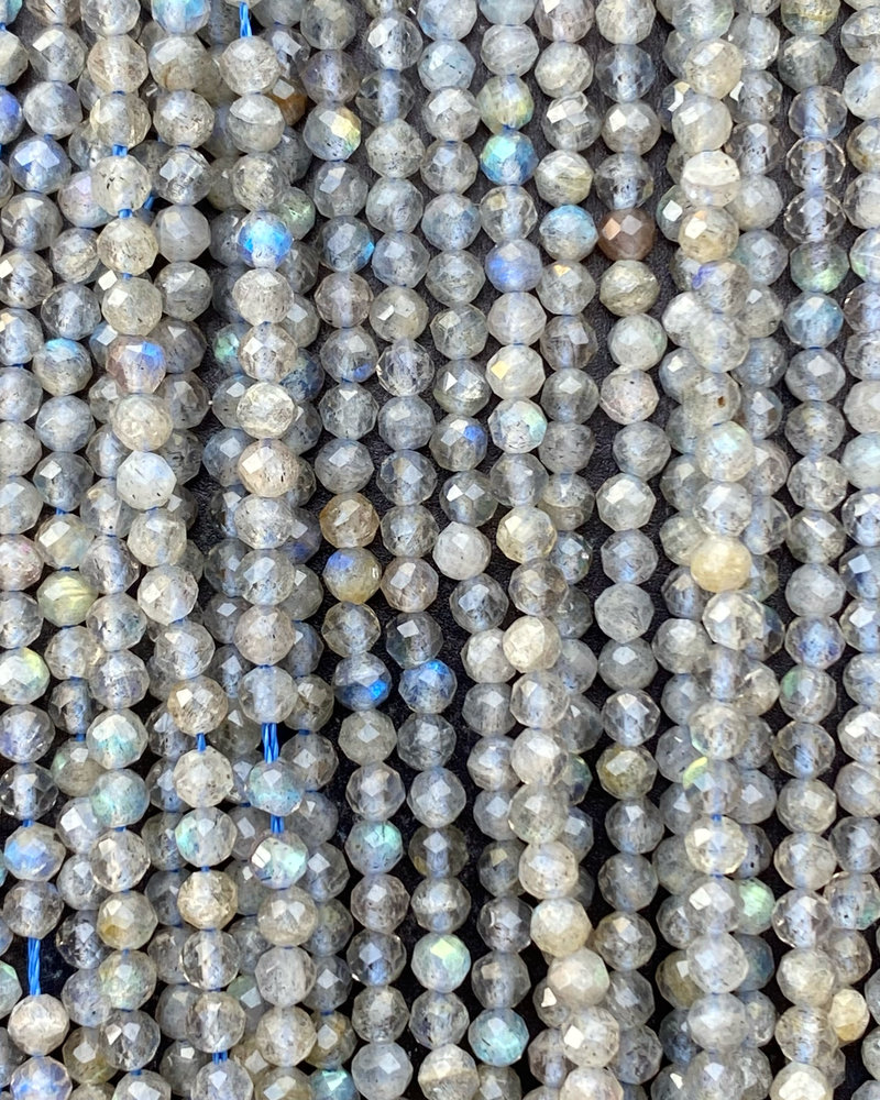 3.5mm Faceted Round Labradorite