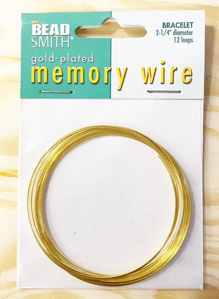 MEMORY WIRE GLD PLT 2.25 BRACELET WIRE 12 LOOPS