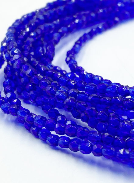 Firepolish 3mm : Cobalt Blue