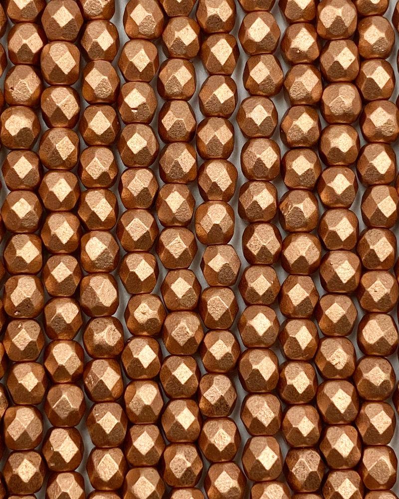 Firepolish 4mm : Matte - Metallic Copper