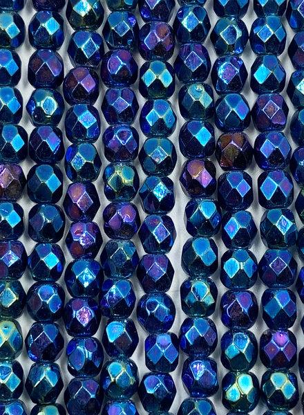 Firepolish 4mm : Iris - Blue