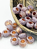 6x9mm Large Hole Roller Bead Thistle with Copper Lined