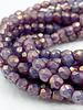 Firepolish 4mm :  Purple Pansy Pearl Finish