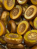 14x10mm Carved Oval- Pumpkin Yellow Gold Bronze Finish