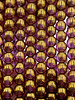 6mm Round Druk Purple Pansy Grape with Bronze Finish