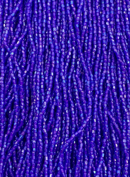 Size 9/0 Three Cut Seed Beads- #988 Sapphire Pink Lined Rainbow