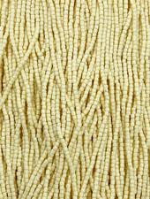 Size 9/0 Three Cut Seed Beads- #995 Ivory