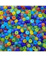 SIZE 6/0 #416m  Matte Transparent Rainbow Mix