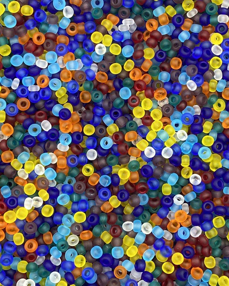 SIZE 8/0 #416m  Matte Transparent Rainbow Mix
