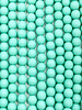6mm Round Druk: Matte Green Turquoise