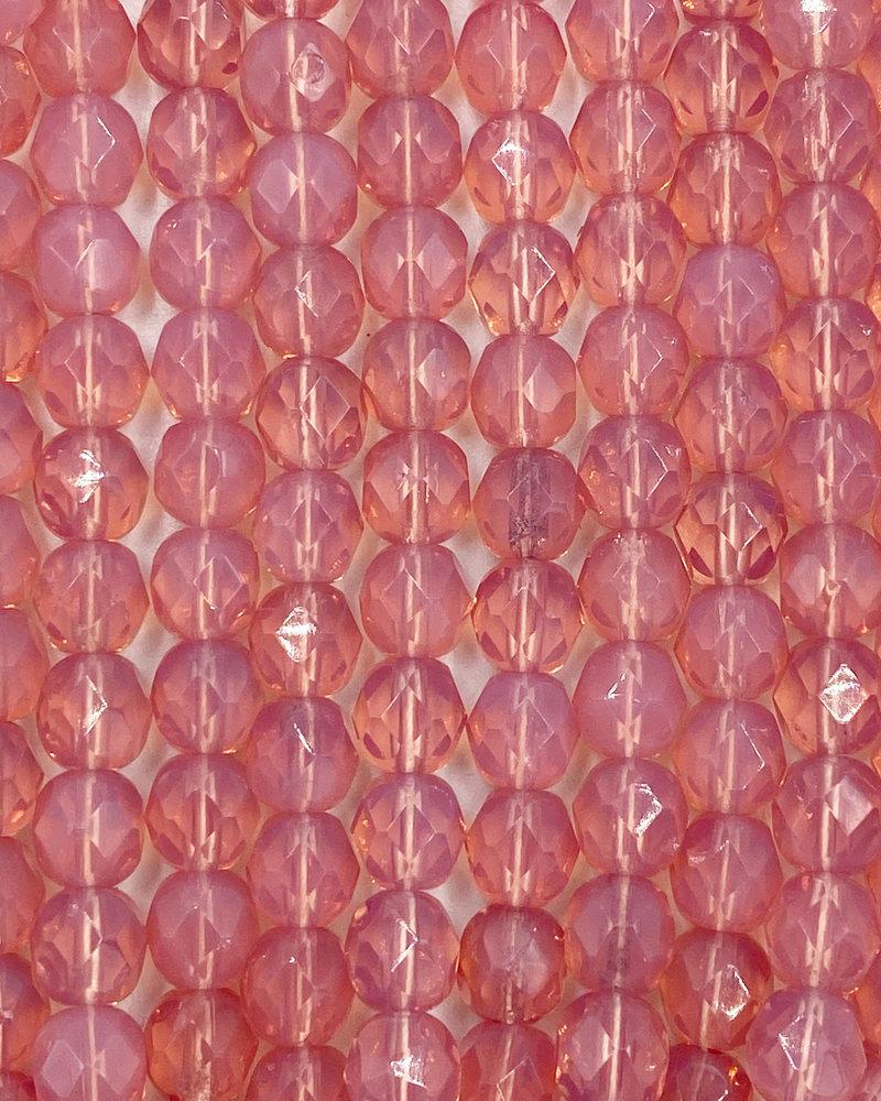 Firepolish 6mm : Rose Opal