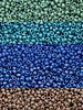 Size 15/0 Miyuki Round: Frost Opaque Glaze Rainbow COMBO (15 Tubes)