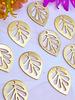 Leaf Cut Out Drop- Brass- 10pc