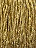 Size 12/0 Three-Cut Hand Cut Seed Bead 24k Gold Plated: 1 Gram