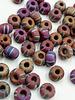 Jumbo Seed Bead #547 Brown Black White Stripe Matte Rainbow- 50pc.
