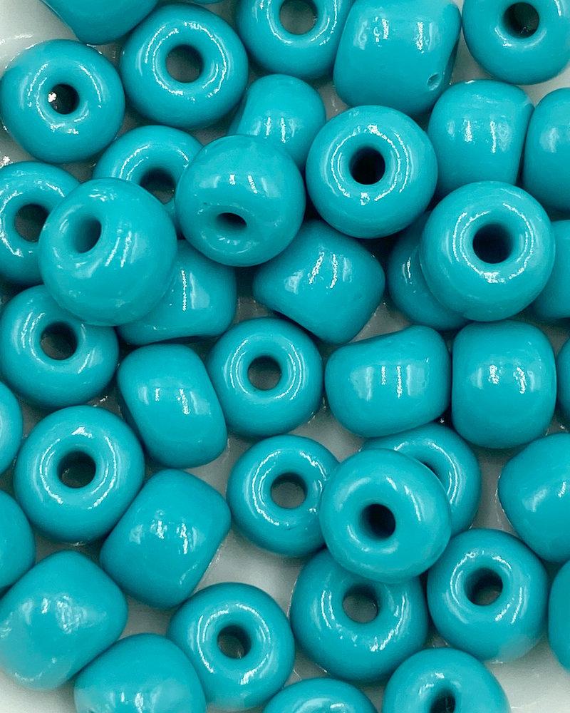 Jumbo Seed Bead #117 Green Turqouise- 50pc.