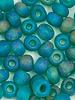 Jumbo Seed Bead #439 Emerald Matte Rainbow- 50pc.