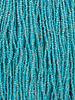 SIZE 11/0 #758 Crytal Turquoise Lined Rainbow