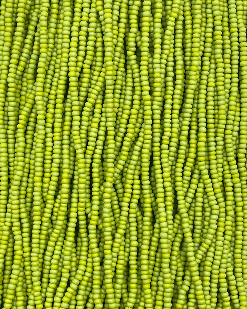 SIZE 11/0 #1240 Olive Green Matte Rainbow
