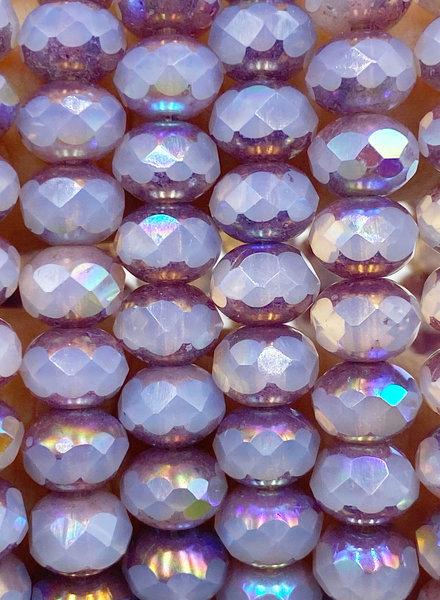 5x7mm Rondelle Lavender AB
