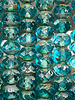 5x7mm Rondelle Teal Blue Picasso