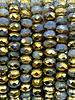 3x5mm Rondelle Cornflower Picasso Gold
