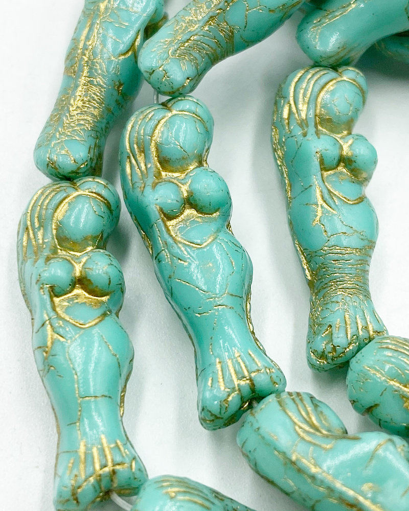 5x25mm Mermaid Sea Green with Gold Wash