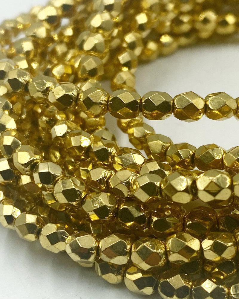 Firepolish 4mm: Gold