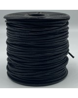 1.5mm Leather Antique Black (Dyed): 25 yards