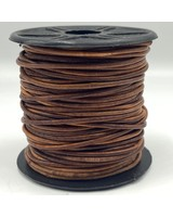 1.5mm Leather Antique Red Brown (Dyed): 25 yards