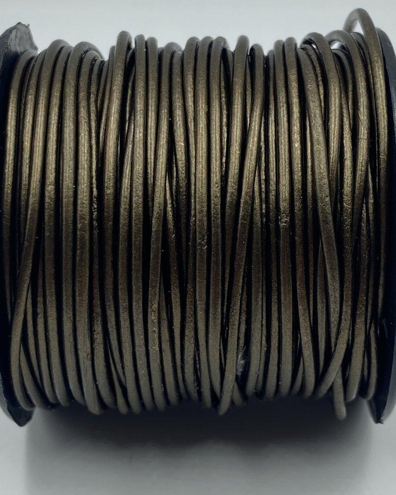 1.5mm Leather Metallic Kansa: 25 yards