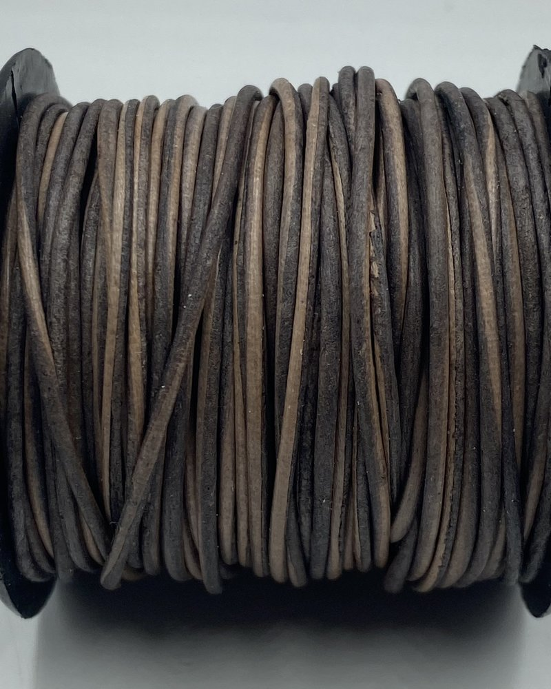 1.5mm Leather Antique Grey (Dyed): 25 yards