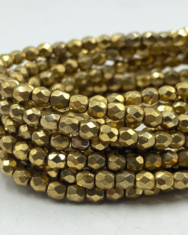Firepolish 3mm: Gold