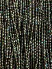 SIZE 11/0 #1373B Dark Green/Blue Turquoise Travertine