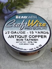 CRAFT WIRE 22GA ROUND 15YD  ANTIQUE COPPER