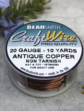 CRAFT WIRE 20GA ROUND 10YD ANTIQUE COPPER
