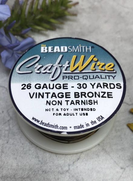 CRAFT WIRE 26GA ROUND 30YD VINTAGE BRONZE