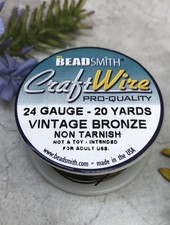 CRAFT WIRE 24GA ROUND 20YD VINTAGE BRONZE