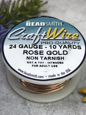CRAFT WIRE 24GA ROUND 10YD ROSE GOLD