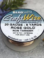 CRAFT WIRE 20GA ROUND 6YD ROSE GOLD