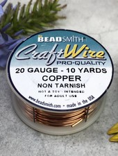 CRAFT WIRE 20GA ROUND 10YD NATURAL COPPER