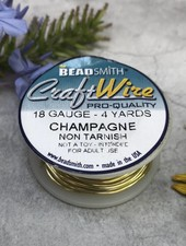 CRAFT WIRE 18GA ROUND 4YD CHAMPAGNE GOLD