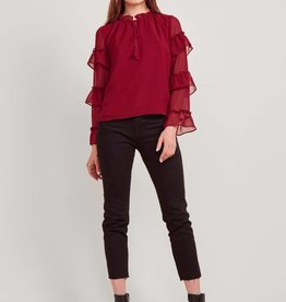 BB Dakota Ruffle Sleeve Blouse