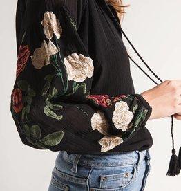 Black Swan Mariah Embroidered Sleeve Black