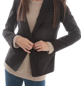 Current Air One Button Blazer Heather Brown