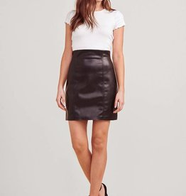 BB Dakota Vegan Leather Pencil Skirt - Black