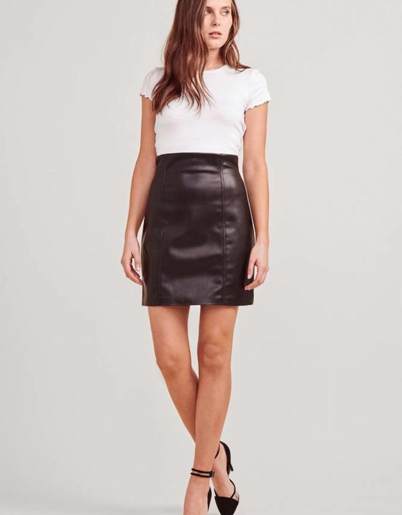 BB Dakota Vegan Leather Pencil Skirt - Black