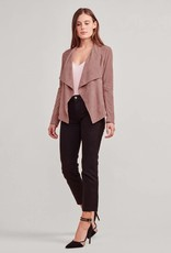 BB Dakota Wade Suede Drape Jacket - Rose